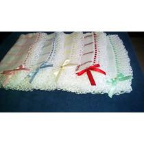 Manta Para Bebê Forrada, Feita Com Tecido De Fralda E Crochê