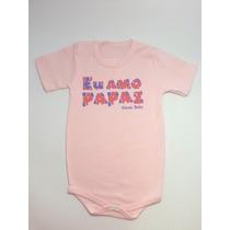Body Infantil Personalizado Cacau Baby Tamanho G
