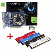 Placa De Vídeo Gt420 2gb 128 Bits + Memória Ddr3 4gb Hyperx