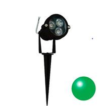 6 Espeto Led De Jardim Luz Verde Iluminação Leds Refletor