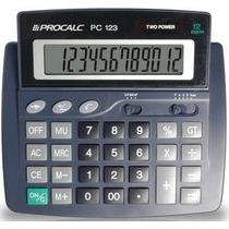 Calculadora 12 Dígitos Grandes Procalc Pc 123 **frete Grátis