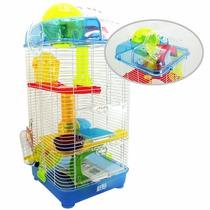 Casa Para Hamster Com Brinquedos - Animal Planet 25x25x58cm