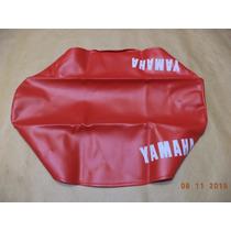 Capa Banco Yamaha Dt 180 1982 Até 1984 Vermelha Com Escritas