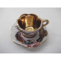 B. Antigo - Xícara Miniatura Porcelana Chinesa Pintada A Mão