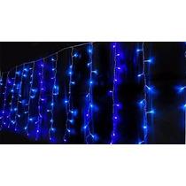 Cascata Led Azul Pisca Pisca 100 Lampadas Natal E Decoracao