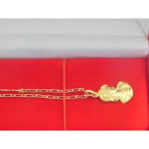 Colar E Pingente De Camafeu De Deusa Do Amor Em Ouro 18k-750