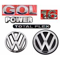 Kit Emblemas Gol G3 Power 1.6 - Geração 3 - Modelo Original
