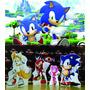 Kit Displays Cenário De Chão Sonic 8 Peças! + Painel 2 X1,40