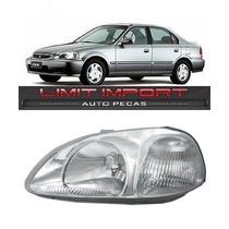 Farol Honda Civic Esquerdo Ano 1996 1997 1998