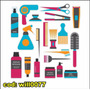 Adesivo De Parede Produtos De Barbeiro E Salão Will0077