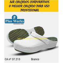 Sapato Crock Profissional Soft Plus Work Palmilha Pu Com Ca