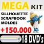 Dvd Mega Kit Scrapbook Digital + Sillhouette E Moldes