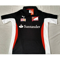 Camisa Ferrari Santander F1 Preta