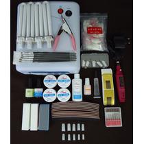 Kit Unha Gel Com Cabine Forno Uv 36w - Voltagem 110v - #2