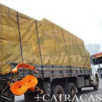 Lona Encerado Caminhão Premium Algodão 9x4 M Ripstop Caqui