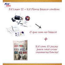 Máquina Fit Original Com Kit Tiara (fuxico, Flores, Laços..)