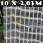 Lona Transparente Tecido Impermeável 10x2 Mts Sem Acabamento