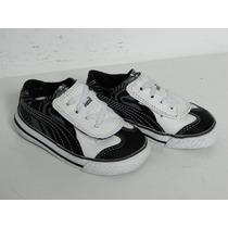 Tênis Puma Baby Com Velcro - Preto E Branco ( 18 )