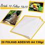 Papel Foto Adesivo Brilhante A4 130 Gr 500 Unidades + Brinde