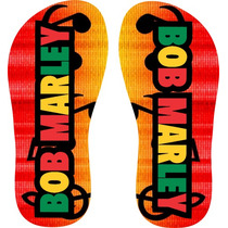 Chinelo Personalizado Bob Marley - Frete Grátis
