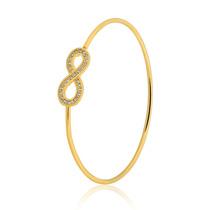 Pulseira Semijoia Bracelete Fio Infinito 20cm Banho Ouro 18k