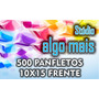 500 Panfletos 10x15 Coloridos Frente. Papel Ap120gr.
