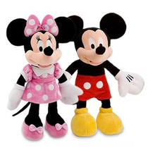 2 Bonecos Pelúcia Disney Minnie E Mickey Original Licenciada