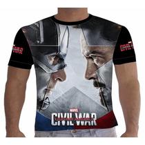 Camisa Camiseta Capitão América - Guerra Civil - Team Iron