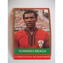 Ping Pong Futebol Cards Toninho Braga Portug C/ Aparo De 1mm
