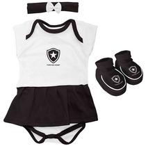 Kit 3 Peças Body Vestido Botafogo Torcida Baby (0m+)