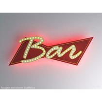 Luminoso Decorativo Led Frente Verso Bar Cerveja Budweiser