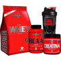 Kit Nutri Whey + Bcaa + Creatina + Copo - Integralmédica