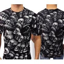 Camiseta De Caveiras - Consulado Do Rock