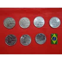 Brasil: Séries De 50 Centavos - 7 Moedas - Fe -f.grátis.!!!