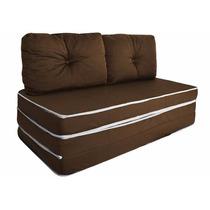 Puff Ou Sofá Ou Colchão - 3 X 1 Com Travesseiro   Casal  