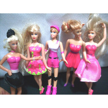 Kit Com 5 Mini Bonecas Barbie Mc Donalds Ler Anuncio