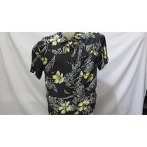 Camisa Imp Island Fever Rayon G Preta Flores / Tribal 531