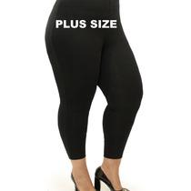Calça Leg Plus Size Cintura Alta Suplex Alta Compressão