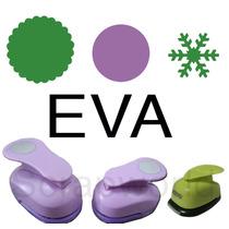 Furador Eva Círculo Esc 5cm + Liso 3,8cm + Floco Neve 2,5cm