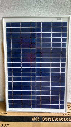 Painel Módulo Placa Energia Solar 12v 20w Fotovoltaico