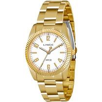 Relógio Lince Feminino Dourado Lrgl009s B2kx - Original