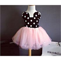 Vestido Festa Saia Tule Minnie Infantil - Importado