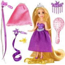Mini Boneca Cabelos Rapunzel Enrolados Princesas Disney