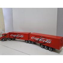 Bitrem Super Longo 1,65 Metros Madeira Bau Coca Cola Scania