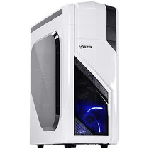 Gabinete Mid-tower Eclipse Vx Gamer Branco Led Azul/lateral