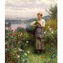 Pegando Jardin Flores Silvestres Pintura Knight Tela Repro
