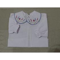 Camisa Em Cambraia Para Bebês Em Bordado Feito A Mão