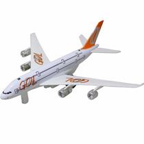 Avião Gol De Brinquedo Decoração Com Led E Fricção - L002ki