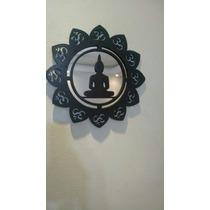 Quadro Mandala Yoga ,meditação,em Mdf E Acrílico Espelhado