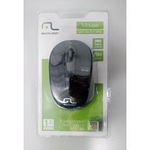 Mouse Multilaser Sem Fio Nano Receiver Mo049 - Preto